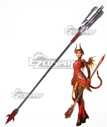 Overwatch OW Mercy Angela Ziegler Devil Caduceus Staff Staves Cosplay Weapon Prop