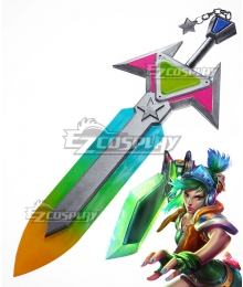 League of Legends LOL Arcade Riven the Exile Sword Cosplay Weapon Prop