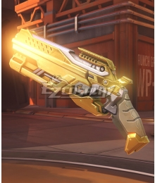 Overwatch OW Reaper Gabriel Reyes Blackwatch Golden Two Guns Cosplay Weapon Prop