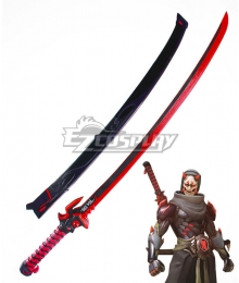 Overwatch OW Genji Shimada Oni Long sword Cosplay Weapon Prop