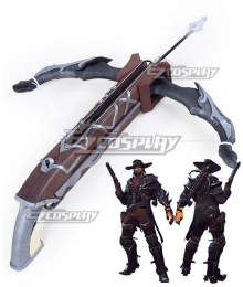 Overwatch OW Jesse McCree Van Helsing Skin Bow And Arrow Cosplay Weapon Prop