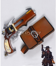 Overwatch OW Jesse McCree Van Helsing Skin Gun And Holster Cosplay Weapon Prop