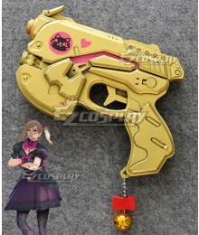 Overwatch OW Dva Hana Song D.Va Black Cat Golden Pistol Gun Cosplay Weapon Prop