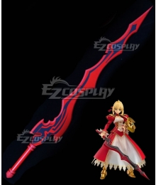 Fate Extra CCC Nero Claudius Caesar Augustus Germanicus Red Saber Aestus Estus Sword Cosplay Weapon Prop