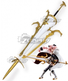 Fate Apocrypha Rider Of Black Astolfo Trap of Argalia Lance Cosplay Weapon Prop