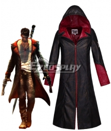 New DMC Devil May Cry 5 Jacket Dante Cosplay Costume Coat Men's Shirt Halloween Costume