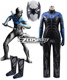 DC Comics Batman Arkham City Nightwing Cosplay Costume