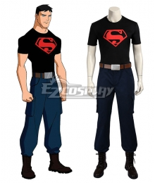 DC Young Justice Superboy Conner Kent Cosplay Costume - Including Boots