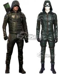 DC Comics Green Arrow Season 5 Oliver Queen Arrow Cosplay Costume - No Boots