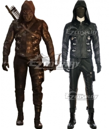 DC Arrow Season 5 Green Arrow Prometheus Cosplay Costume - No Boot
