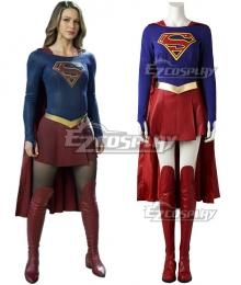DC Supergirl Kara Danvers Cosplay Costume - No Boots and Premium Edition