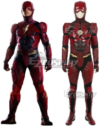 DC Justice League Movie The Flash Barry Allen Cosplay Costume - No Boots