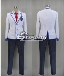 Daitoshokan no Hitsujikai Kakei Kyotarou Takamine Ikkei School Uniform Cosplay Costume-New Ver.