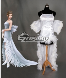 Final Fantasy X FF10 Yuna Wedding Dress Cosplay Costume