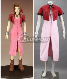 Final Fantasy VII FF7 Aerith Gainsborough Aeris Cosplay Costume