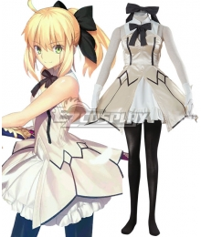 Fate Stay Night Artoria Pendragon Saber Lily Cosplay Costume