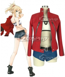Fate Apocrypha Saber of Red Mordred Casual Clothes Cosplay Costume