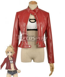 Fate Apocrypha Saber of Red Mordred Casual Clothes Cosplay Costume - Only Top, Coat