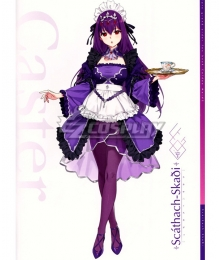 Fate Grand Order Caster Scathach Maid Cosplay Costume