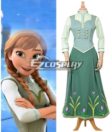 Frozen Fever Anna Princess Birthday Party Dress Cosplay Costume - A Edition