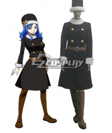 Fairy Tail Rain Woman Juvia Lockser After Seven Years Blue Lolita Dress Cosplay Costume