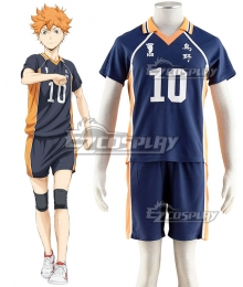 Haikyu!! Haikyuu!! Karasuno High School Shoyo Hinata Royal Blue Cosplay Costume