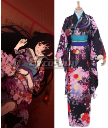 Hell Girl Enma Ai Kimono Dress Cosplay Costume