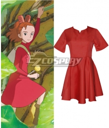 Hayao Miyazaki The Borrower Arrietty The Secret World of Arrietty Arietti Red Dress Cosplay Costume