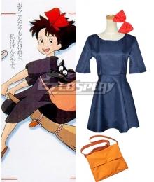 Hayao Miyazaki Kiki's Delivery Service Majo no Takkyubin Kiki Cosplay Costume