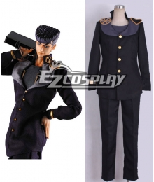 JoJo's Bizarre Adventure: Diamond Is Unbreakable Josuke Higashikata Black Cosplay Costume