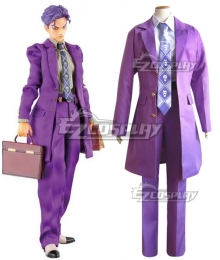 JoJo's Bizarre Adventure Yoshikage Kira Purple Cosplay Costume