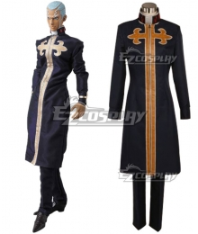 JoJo's Bizarre Adventure Enrico Pucci Black Cosplay Costume
