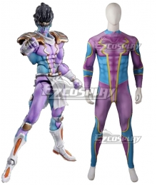JoJo's Bizarre Adventure Jotaro Kujo Star Platinum Muscle Suit Zentai Jumpsuit Cosplay Costume