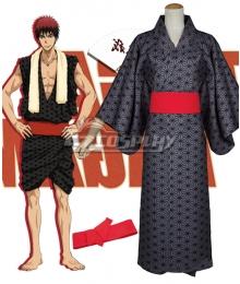 Kuroko's Basketball Kagami Taiga Kimono Bath Robe Dark grey Cosplay Costume