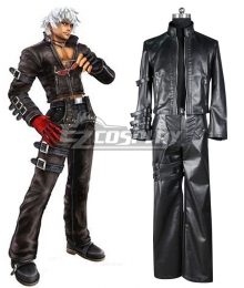 King of Fighters 99 K DASH Black Uniform Game Cosplay Costume