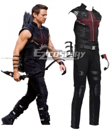 Marvel The Avengers Hawkeye Clinton Francis Barton Cosplay Costume
