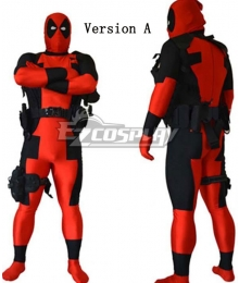 Marvel Halloween Deadpool LOGO Elbow Gloves Kneepad Whole Set