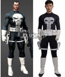 Marvel The Punisher Frank Castle Punisher Black Cosplay Costume