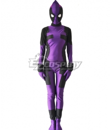 Marvel Female Deadpool Purple Zentai Cosplay Costume