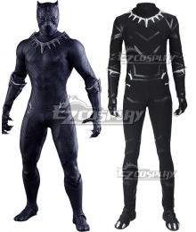 Marvel Captain America: Civil War Black Panther T'Challa Cosplay Costume - No Boots