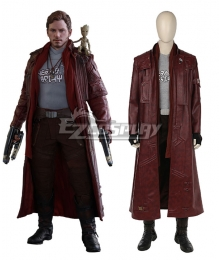 Marvel Guardians of the Galaxy Vol. 2 Star-Lord Peter Jason Quill Cosplay Costume - No Boots