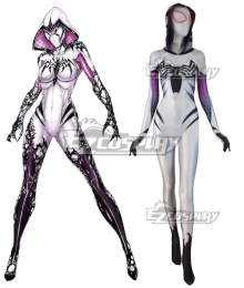 Marvel Spiderwoman Spider Gwen Zentai Gwen Stacy Zentai Jumpsuit Cosplay Costume