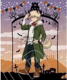 My Hero Academia Boku no Hero Akademia Katsuki Bakugou Halloween Cosplay Costume - No Coat badge