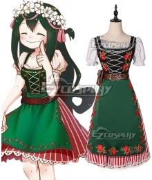 My Hero Academia Boku no Hero Akademia Tsuyu Asui ED Cosplay Costume  - New Version
