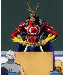 My Hero Academia Boku no Hero Akademia All Might Toshinori Yagi Red Cosplay Costume