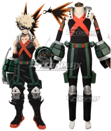 My Hero Academia Boku No Hero Akademia Katsuki Bakugou Battle Suit Full Set Cosplay Costume