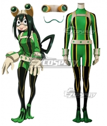 My Hero Academia Boku No Hero Akademia Tsuyu Asui Battle Suit Cosplay Costume