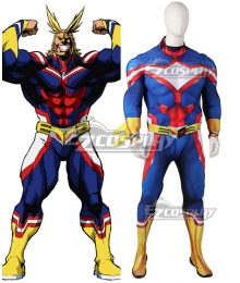 My Hero Academia Boku no Hero Akademia All Might Toshinori Yagi Red Muscle Zentai Jumpsuit Cosplay Costume