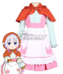 Miss Kobayashi's Dragon Maid Kanna Kamui The Little Match Girl Little Red Riding Hood Cosplay Costume