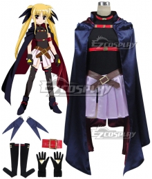 Magical Girl Lyrical Nanoha Fate Testarossa Harlaown Cosplay Costume